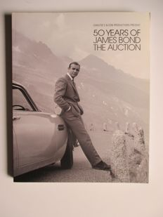 Originele 2012 Christies veiling catalogus 50 Years Of James Bond