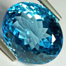 Swiss Blue Topaz- 10.01 ct