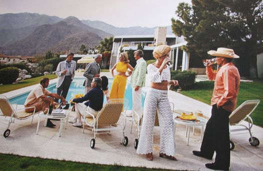 Slim Aarons (1916-2006) - 'Desert House Party' Palm Springs, 1970