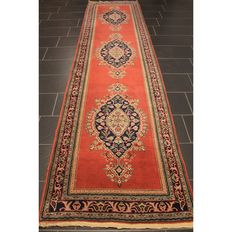 Royal hand-knotted oriental palace carpet Kayseri made in Turkey around 1970 rug runner gallery carpet Tapis Tappeto 380x95cm