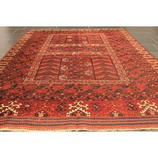 Collector's item, old hand-knotted oriental carpet, Gendje Esari Art Deco Hadjlu 175 x 235 cm, made in Iran around 1930, old piece carpet rug Tapis Tappeto Tapijt