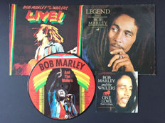 Bob Marley and the Wailers - Lot with picture disc, 2 albums and 1 single