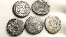 Greek Antiquity - Illyria. Lot of five AR Drachms from Dyrrhachion and Apollonia