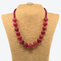 Ruby necklace – Yellow gold 18 kt (750/1000)