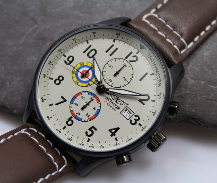 5861dcad8458b1 Aviator F Series – Men s - Chronograph Vintage Style - Watch - Unworn