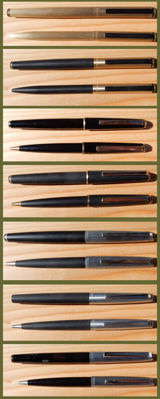 Kaweco Fountain Pen & Ball Point Sets - very good condition - Produced in approx. 1970