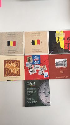 Belgium – Year collections 1989/2001, French and Flemish (7 different ones)