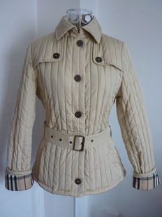 Burberry - Beige jacket with belt NEW