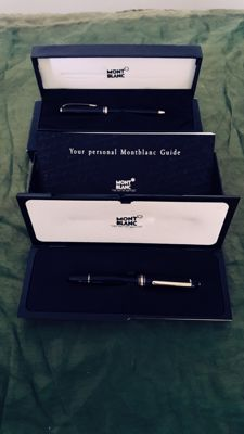 Original MONTBLANC black pen set with two warranty