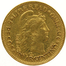 Argentina – Argentino 1882 – Capped Liberty Head gold