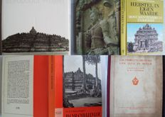Lot with 7 books about buildings on Java (Borobudur and Candi Mendut) - 1903/1997