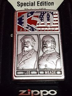 "Zippo Special limited edition 150th Anniversary ""Gettysburg Sir.Lee & Sir.Meade"" Nr 5039 of 10000. Year 2013. NEW with original box"