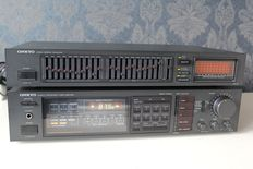 Onkyo TX-18 Quartz Synthesized Tuner Amplifier + Onkyo EQ-25 Stereo Graphic Equalizer (1985-87)