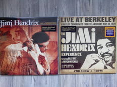 Lots of 2 Original Albums of Jimi Hendrix, 3 Lp Live At Woodstock 180 Grams Remastered 8 page full colour booklet, 2 Lp Live At Berkeley 180 Grams 8 page booklet