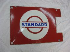 Emaille STANDARD olie reclame bord