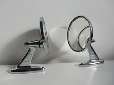 Two car side mirrors vintage - 1950s