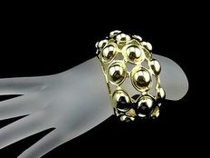 KJL Kenneth Jay Lane wide bubble  cuff bracelet