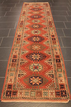 Wonderful decorative old hand-knotted Art Deco – Afghan – oriental carpet – Measurements: 90 X 310 cm – circa 1950 – made in Afghanistan