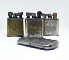 Petrol lighter collection in chromed metal Art Decó - 30s.