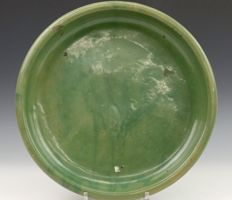 An early Ming celadon Longquan saucer dish- China- Ca. 1400