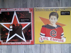 Lots of 3 Original Rage Against The Machine, 2 Lp Live At The Grand Olympic Auditorium 180 Grams, Evil Empire 180 Grams, The Battle Of Los Angeles 180 Grams