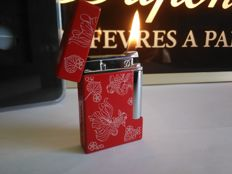 "S.T DUPONT lighter line 8 ""Golden fish"" - Limited Edition - Chinese lacquer and Chrome"
