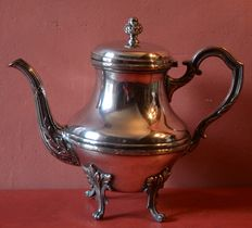 Large silver-plated teapot in Louis XVI style, France, 1900