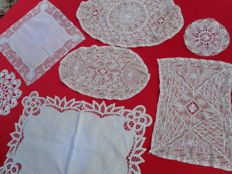 A collection of handmade lace, Flanders, 20th century