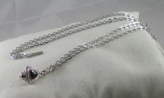 Silver necklace - Length: 70 cm