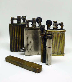 Collection of lighters from the early 20th century.
