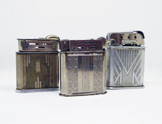 Collection of windproof lighters Art Decó - 30s