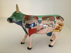 Cow Parade Cowparade - Fun Seekers - medium - ceramic - retired.