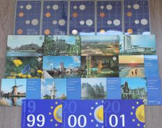 The Netherlands – Year packs 1982 through 2001 (20 different packs), complete
