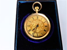J. Taylor & son, Dunning, Swiss pocket watch made circa 1890s. {ref no 51}