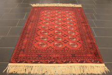 Beautiful, old, handknotted, Art Deco oriental carpet, 150 x 195 cm, circa 1950, made in Aghanistan