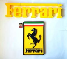 Ferrari - logo sign - 25 x 5 x 105 cm - 21th  century