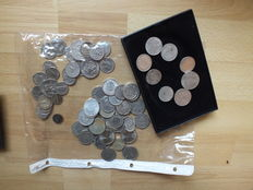 World - lot of 74 coins (Germany, USA, Switzerland, Spain, Holland, France, Sweden, etc...)