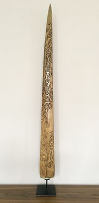 Swordfish Rostrum with Dayak Ornament – Bali – Indonesia