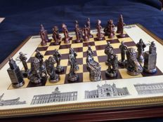 Historical chess of monuments of Madrid, artisan work, with certificates