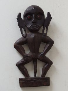 African carved wooden fertility statue from the mid 20th century