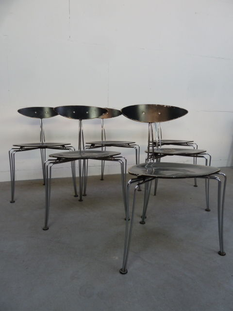 Morten Voss U2013 Set Of 6 Vintage Stacking Chairs