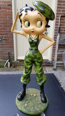 Betty Boop - as a soldier - Original King Feature Syndicate / Fleisher Studios - USA