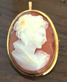 Cameo mounted on gold