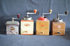 Four old coffee grinders, Germany 40-50s