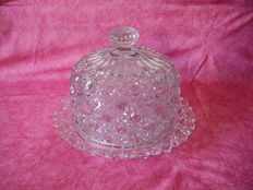 Bell for cheese or sweet / cut crystal / PORTIEUX /