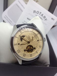 Sea Gull  Rotary Men's  Vintage Automatic  Watch-Skeleton- Moon Phase