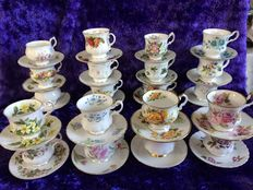 40 Piece lot of English cups and saucers.