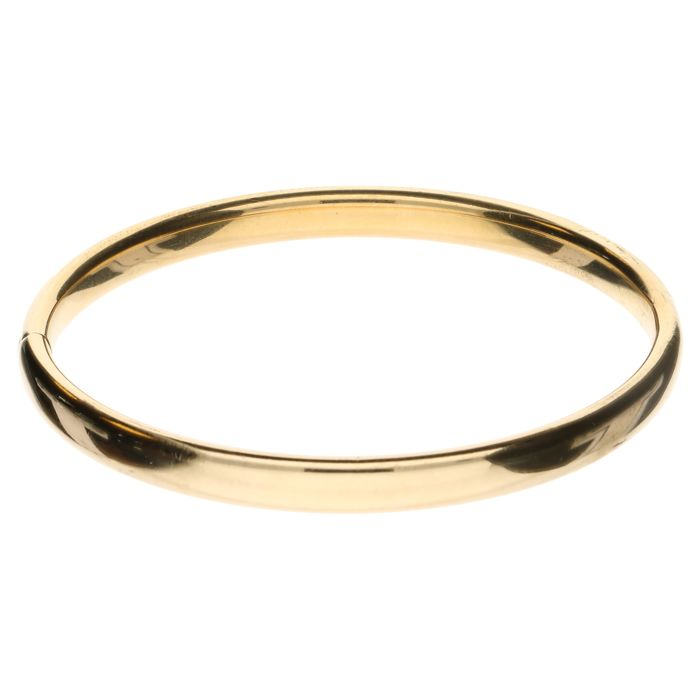 14k yellow gold bangle - 61.3 mm