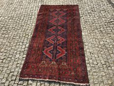 Old Iran Beluodj -hand knotted 200x105 cm with Signature