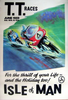 Nostalgic Poster - T.T. Races June 1959 - Isle of Man